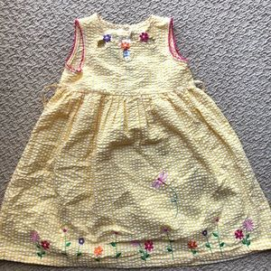 🌸🌼🌸Yellow Plaid Embroidered Summer Dress🌸🌼🌸